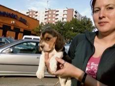 Bea con su beagle Sidra