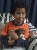 Santi y la beagle Sussi
